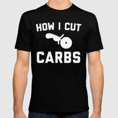 Cut Carbs Funny Quote Black LARGE Mens Fitted Tee