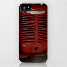 Sexy Red Antique Tractor iPhone Case