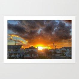 Electric Brigantine Sunset Art Print