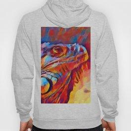 Iguana Watercolor Hoody