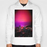 skyline Hoodies featuring City Skyline by 2sweet4words Designs