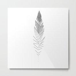 Mininal Feather Metal Print