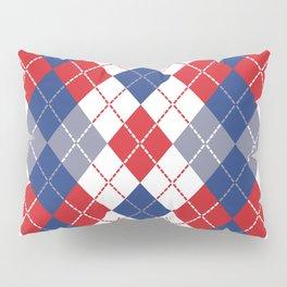 Patriotic Argyle Pillow Sham
