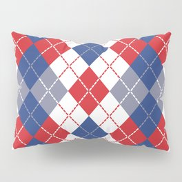 Patriotic Argyle Pillow Sham