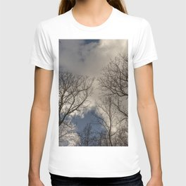 Tree tops with clouds on the background T-shirt