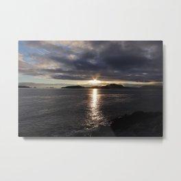 SUNSET AT SITKA Metal Print