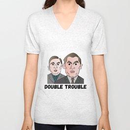 Double Trouble Unisex V-Neck