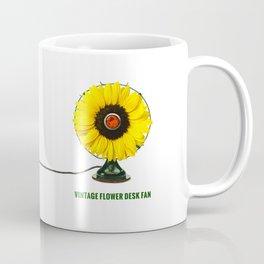 ORGANIC INVENTIONS SERIES: Vintage Flower Desk Fan Coffee Mug