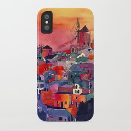 Sunset on Santorini iPhone Case