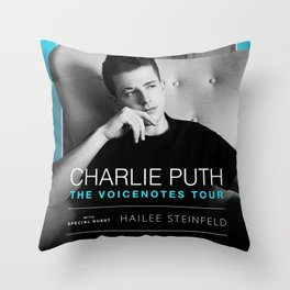 CHARLIE PUTH HAILEE STEINFELD VOICENOTES TOUR DATES 2019 UPIN Throw Pillow