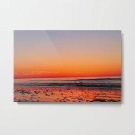 Red Ocean Sunrise Metal Print