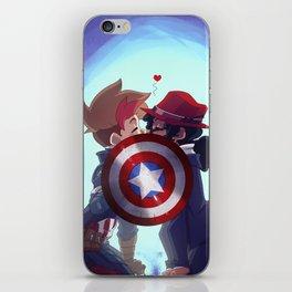 Captain & Carter Cosplay iPhone Skin