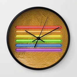 Flag Equality - gold Wall Clock