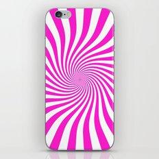 Swirl (Hot Magenta/White) iPhone & iPod Skin