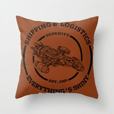 SERENITY SHIPPING AND LOGISTICS Throw Pillow