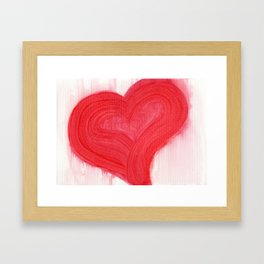 a simple red heart Framed Art Print