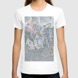 Jackson Hole Mountain Resort Trail Map T-shirt