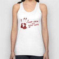 gore Tank Tops featuring Love Gore by Victor Rodriguez