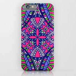 Beautiful Vintage Retro Bohemian Hippie Pink Purple Design iPhone Case