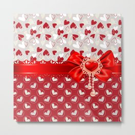 Hearts Valentines Metal Print
