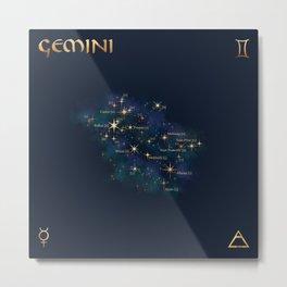 Gemini Constellation Metal Print