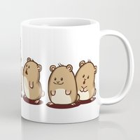 hamster Mugs featuring Fancy Hamster by Mr. And Mrs. Inky Hands