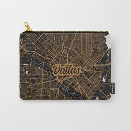 Dallas | Texas | United States - Minimalist City Map Carry-All Pouch