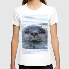 Watercolor Harbor Seal 01, Reykjarfjörður Iceland, Seen Any Fish Around These Parts? T-shirt
