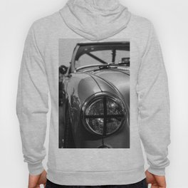 Black 'n White Racer / Classic Car Photography Hoody