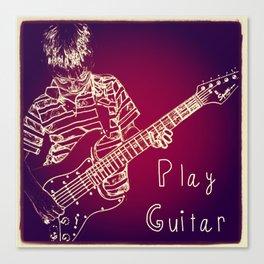 Play Guitar Canvas Print