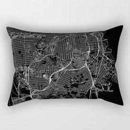 San Francisco Black Map Rectangular Pillow