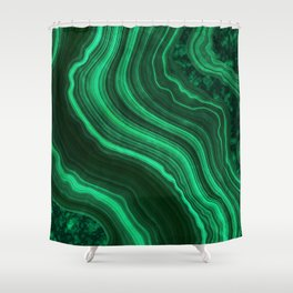 Malachite Texture 08 Shower Curtain