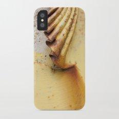 Yellow Push iPhone X Slim Case