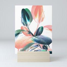 Foliage in Love - Teal & Blush Mini Art Print