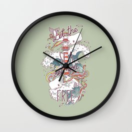 Whales and Waves Wall Clock