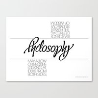 philosophy Canvas Prints featuring Philosophy by John Langdon