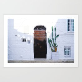 Summer and cactus Art Print