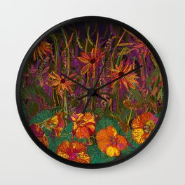 You Can Get By (Autumn Flowers) Wall Clock