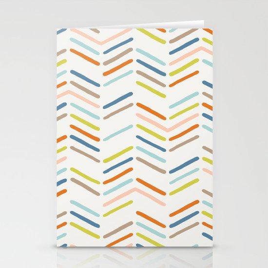 Mixed Herringbone - in Burnt Orange Stationery Cards