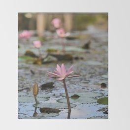 Water Lily, III Throw Blanket