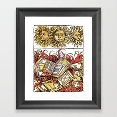 Book Burning Framed Art Print