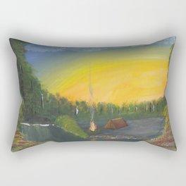 Camping at Sun Set Rectangular Pillow