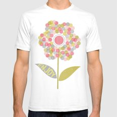 Dot Flower SMALL White Mens Fitted Tee