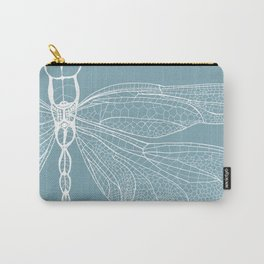Dragonfly on Blue Carry-All Pouch