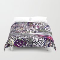 champagne Duvet Covers featuring Champagne by Dan Ellwood