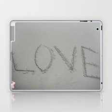 Love letters in the sand Laptop & iPad Skin