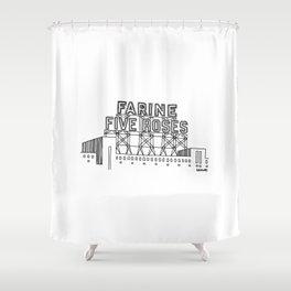 Montréal - Farine Five Roses - Black Shower Curtain