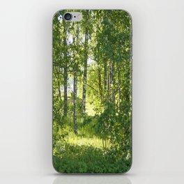 Beautiful Morning Summer Greenery #decor #society6 #buyart iPhone Skin