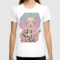 loll3 T-shirts featuring Flora by lOll3