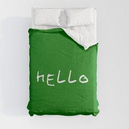 hello 11- dark green Comforters
